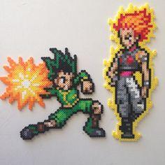 Gon & Hisoka Hunter × Hunter perler beads by 8bitofjai