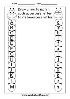 Letter Tracing Worksheets For Kindergarten – Capital Letters – Alphabet Tracing – 26 Worksheets / FREE Printable Worksheets – Worksheetfun Preschool Kindergarten, Preschool Learning, Preschool Activities, Free Preschool, Preschool Letters, Kids Printable Activities, Learning Letters, 5 Year Old Activities, Letter Recognition Kindergarten