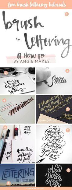 Hand Lettering | free brush lettering tutorial