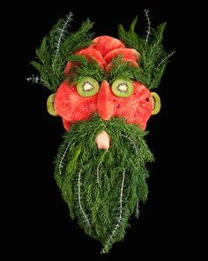 Faces made from Fruits and Vegetables by Emily Dryden and Zahydé Pietri