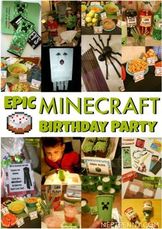 This is the best Minecraft birthday party I have seen and all of the Minecraft party ideas are completely doable without spending a small fortune. She includes Minecraft party printables and has great ideas for Minecraft party decorations, games, and more!