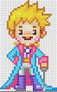 The Little Prince perler bead pattern