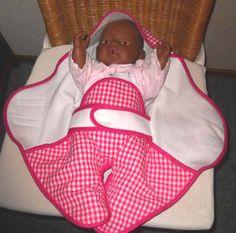 Patroon omslagdoek voor pop/babyborn