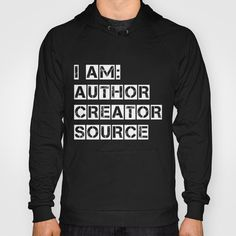 Philoso-Tees: Author, Creator, Source Hoody