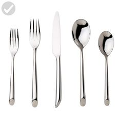 Nambe Frond 5-Piece Stainless Steel Place Setting, Service for 1 - Improve your home (*Amazon Partner-Link)