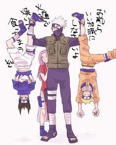 Anime: Naruto Personagens: Hatake Kakashi, Uzumaki Naruto, Haruno Sakura e Uchiha Sasuke Anime Naruto, Naruto Shippuden Sasuke, Boruto, Wallpaper Naruto Shippuden, Naruto Comic, Naruto Fan Art, Kakashi Sensei, Naruto Cute, Naruto Sasuke Sakura