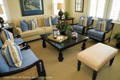 Beige Und Blau Wohnzimmer