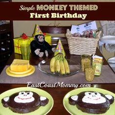 diy surf theme first birthday | DIY Monkey Themed First Birthday