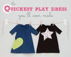 Cómo convertir camisetas (T-shirt) de adultos en vestidos para niña.