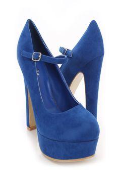 Royal Blue Mary Janes