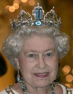 Brazilian Aquamarine Parure worn by HM Queen Elizabeth II of Great Britian
