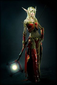 Amazing Blood Elf cosplay costume based on the Blood Elves in World of Warcraft.