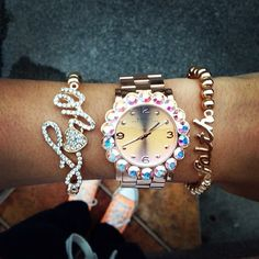 <3 rose gold arm candy!