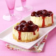 Mini cheesecakes Ditch the platter of cream cakes and add a touch of ...