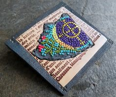 Micromosaic brooch. 6x6 cm approximately. Made from polymer clay. (Premo)