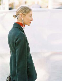 Festive Trend: bun + long earrings