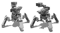 concept robots: Concept robot art by Sam Brown