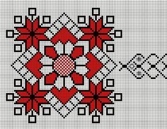 aleriM'sDiary: Motive decorative Cross Stitch Borders, Cross Stitch Flowers, Cross Stitch Designs, Cross Stitch Patterns, Cross Stitch Needles, Cross Stitch Embroidery, Embroidery Patterns, Hand Embroidery, Mochila Crochet