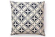 Agra 20x20 Pillow, Navy