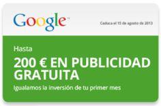 Promoción especial para Anuncios en Google----------------------------------------- Invierte hasta 200 € y el próximo mes lo tienes gratis.. Oferta válida hasta 15 de Agosto. http://www.cbo-marketing.com/publicidad-en-google-adwords/promocion-especial-para-anuncios-en-google/