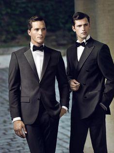 Sarar F/W 2013 Men's style black classic suit bow ties