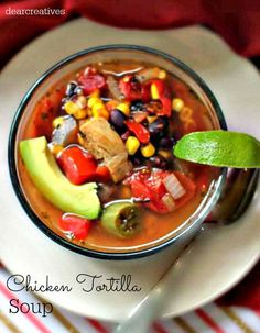 Chicken Tortilla Soup Recipe - Penney Lane