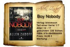 """""""Boy Nobody"""" begeistert mit permanenter Spannung und mitreißender Erzählung. Dieses atemlose Lesevergnügen belohne ich deshalb auch mit 5 Büchern.  Für Liebhaber spannender Geschichten, die mitreißende Handlungen ohne große Ruhepausen genießen und sich fesseln lassen können."""