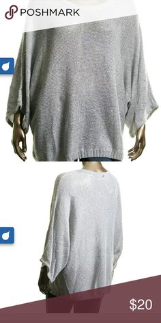 Melissa Mccarthy Seven 7 Sweater Another great sweater from Melissa Mccarthy. Beautiful grey cocoon sweater. Get that great slouchy look with this sweater. Has a bit of glitte4 to make it pop even more Melissa McCarthy Sweaters V-Necks