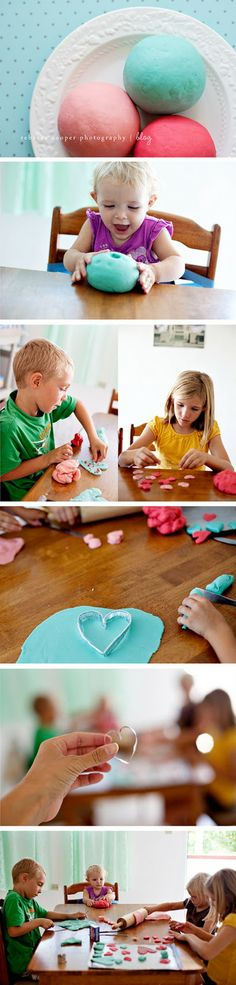 sweet valentines playdough
