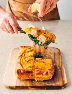 Jamie Oliver Salmon, Jamie Oliver Healthy Recipes, Pesto Salmon, Red Pesto, Salmon Recipes, Salmon Meals, Nutritious Meals, Food And Drink, Easy Meals