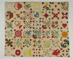 Antique Sampler ~ nice colors, folky blocks