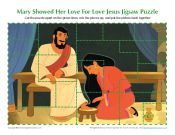 Mary Showed Her Love for Jesus Jigsaw Puzzle