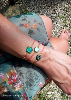 "Friendship bracelets set, macrame, neon thread, czech glass and miyuki delicas seed beads.   © Natacha Fayard   <a class=""pintag"" href=""/explore/friendship/"" title=""#friendship explore Pinterest"">#friendship</a> <a class=""pintag searchlink"" data-query=""%23bracelet"" data-type=""hashtag"" href=""/search/?q=%23bracelet&rs=hashtag"" rel=""nofollow"" title=""#bracelet search Pinterest"">#bracelet</a> <a class=""pintag"" href=""/explore/macrame/"" title=""#macrame explore Pinterest"">#macrame</a> <a…"