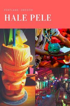 Hale Pele Tiki Bar, Portland, Oregon — beaches, booze, and bungalows Rain And Thunder Sounds, Oregon Beaches, Tiki Tiki, Grant Park, Blue Hawaiian, Beach Quotes, Oregon Travel, Halloween Town, Bungalows
