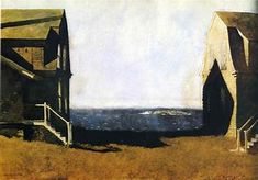'Summer House, Winter House' by Jamie Wyeth, not Edward Hopper. FYI, a major Faux Pas by someone, somewhere along the way. Jamie Wyeth, Andrew Wyeth, American Realism, American Artists, Monet, Edward Hopper Paintings, Inspiration Art, Magritte, Winter House