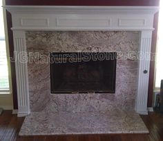 Marble surround, floating fireplace