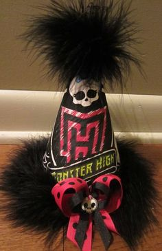 Monster High Birthday Party Hat Favors Supplies. $17.99, via Etsy.