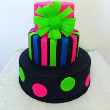 Resultado de imagem para bolos neon