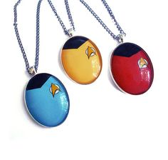 Star Trek Shirt Necklace Multilisting Geek Sci Fi by landofrapture