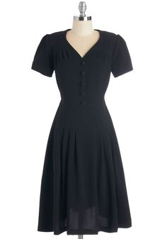 Let's Go to the Shop Dress in Black, #ModCloth