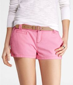 "Express Womens 2"" Neon Trouser Shorts Neon Pink, 4"