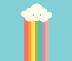 Proud rainbow cloud