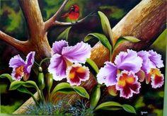 Pinturas Al Oleo De Flores pintar