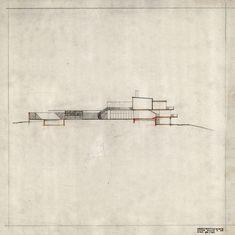 Alvar Aalto's 1938-39 Villa Mairea, cross section