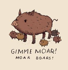 moar boars Art Print by Louis Roskosch - X-Small Baby Illustration, Character Illustration, Graphic Illustration, Animal Paintings, Animal Drawings, Pig Drawing, Moth Drawing, Wild Boar, Animal Posters
