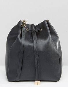 72977c479631 ASOS Minimal Drawstring Shoulder Bag With Detachable Strap - Black   shoulderbagsasos
