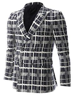 FLATSEVEN Mens White Check Plaid Pattern Double Breasted Blazer Casual Jacket (BJ470) Navy, Boys L FLATSEVEN http://www.amazon.com/dp/B00NMAY2QS/ref=cm_sw_r_pi_dp_qQg2ub0124MFK #FLATSEVEN #Men #Fashion #Blazer #Casual #Jacket #Blazer
