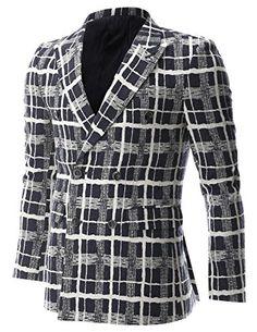 FLATSEVEN Mens White Check Plaid Pattern Double Breasted Blazer Casual Jacket (BJ470) Navy, Boys L FLATSEVEN http://www.amazon.com/dp/B00NMAY2QS/ref=cm_sw_r_pi_dp_qQg2ub0124MFK #FLATSEVEN #Men #Fashion #Blazer #Casual #Jacket #Breasted Blazer #SlimFit