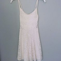 Abercrombie & Fitch White Lace Skater Dress Abercrombie and Fitch with lace skater dress. XS. Worn twice. Cheaper on Ⓜ️erc or ️️ Abercrombie & Fitch Dresses Mini