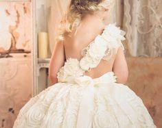 Vestido de la muchacha de flor vestido de tutú de por alorasafari